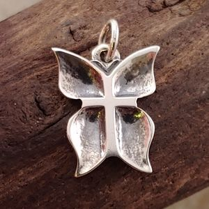 Rare Retired James Avery Butterfly Cross Charm